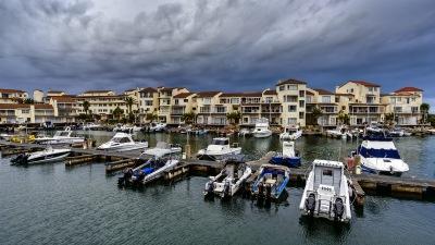 Blick aus unserer Stube auf den Hafen