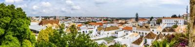 Blick vom Castelo auf Tavira