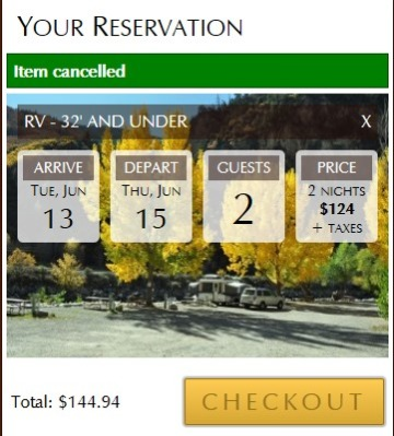 Glenwood Canyon RV Resort Preise