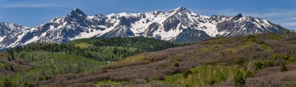Mears Peak und die Sneffels Range, Colorado