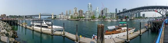Sicht von Granville Island auf Vancouver