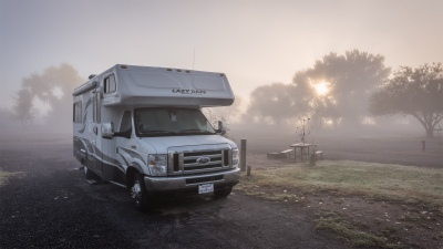 Foggy....nein Shady Acres RV Park, Green River