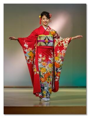 Kimono-Vorführung, Kyoto