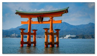 Torii, Itsukushima Schrein, Miyajima