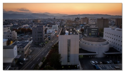 Die Stadt Imbabari auf Shikoku