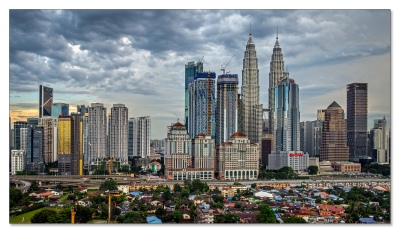 Kuala Lumpur aus dem 33. Stock
