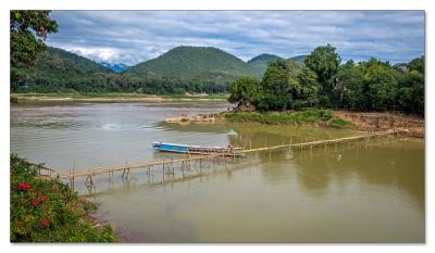 Zusammenfluss von Nam Khan und Mekong, Luang Prabang