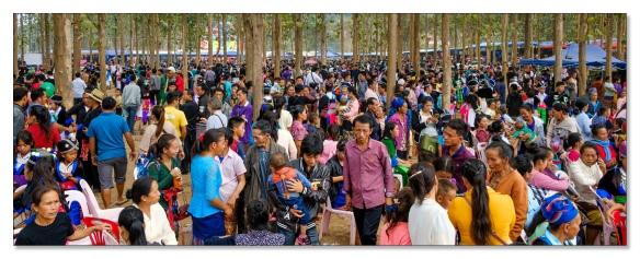 Hmong New Year Menschemmasse
