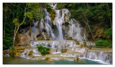 Kuang Si Wasserfall ausserhalb von Luang Prabang