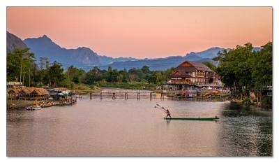 Nam Song Fluss, Vang Vieng