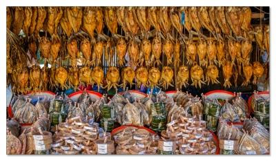 Fischmarkt ausserhalb von Vang Vieng