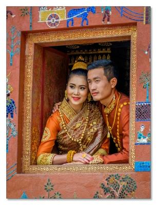 Hochzeitspaar, Luang Prabang