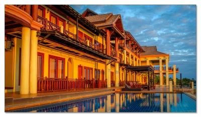 Unser Hotel auf Kong Island im Mekong