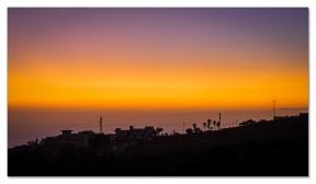Sonnenuntergangsstimmung aus dem Stubenfenster