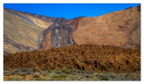 'Lavaflüsse' am Pico del Teide