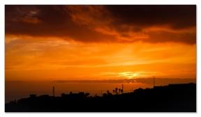 einmal mehr ein Sonnenuntergang aus dem Stubenfenster