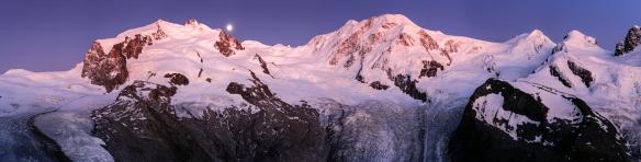 Monte Rosa Massiv - Lyskamm - Castor und Pollux