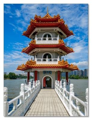 Eine der Zwillingspagoden, Chinesischer Garten
