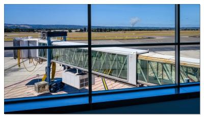 Buschfeuer Adelaide Hills, vom Flughafen gesehen...